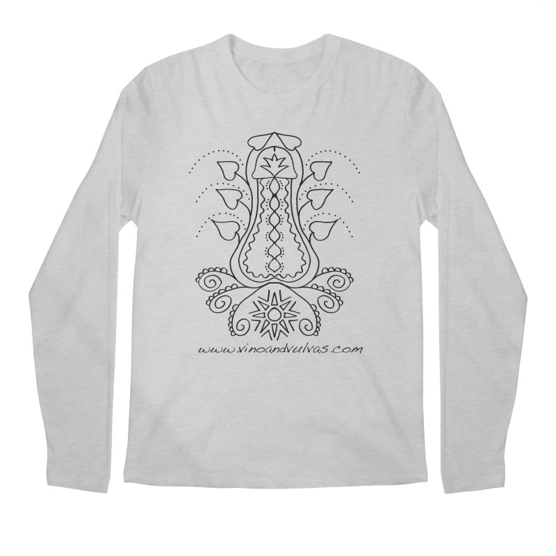 Goddess Cock Men's Longsleeve T-Shirt by Vino & Vulvas Artist Shop