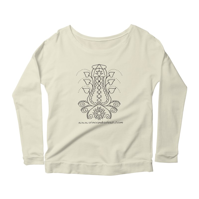 Goddess Cock Women's Scoop Neck Longsleeve T-Shirt by Vino & Vulvas Artist Shop
