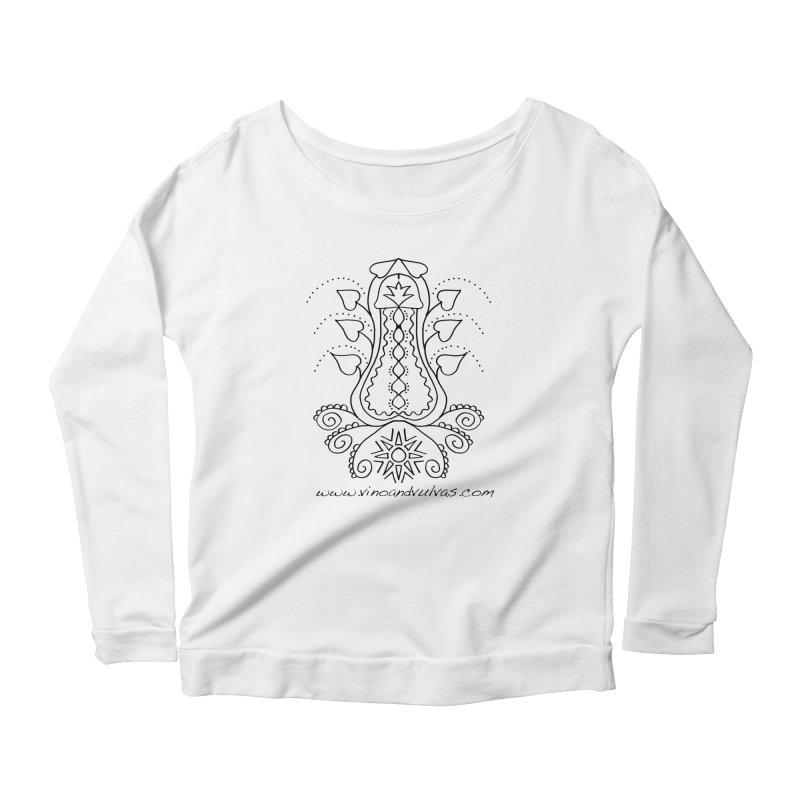 Goddess Cock Women's Scoop Neck Longsleeve T-Shirt by Vino & Vulvas Artist Shop