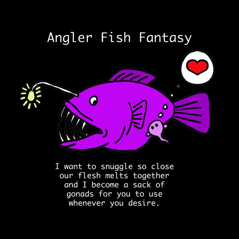 Angler Fish Fantasy Women's Longsleeve T-Shirt by Vino & Vulvas Artist Shop