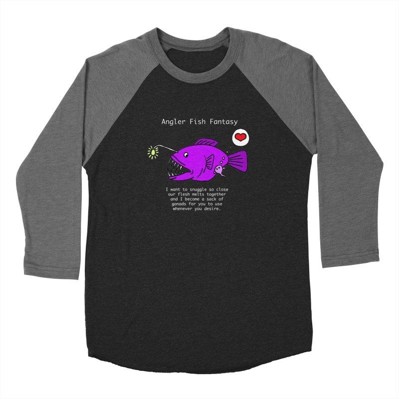 Angler Fish Fantasy Men's Baseball Triblend Longsleeve T-Shirt by Vino & Vulvas Artist Shop