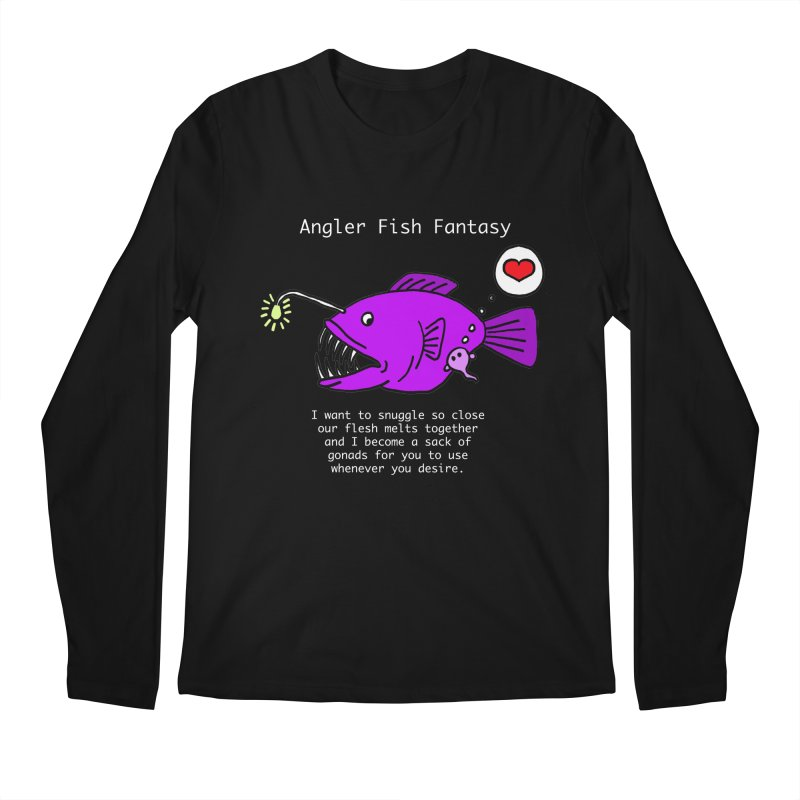 Angler Fish Fantasy Men's Regular Longsleeve T-Shirt by Vino & Vulvas Artist Shop