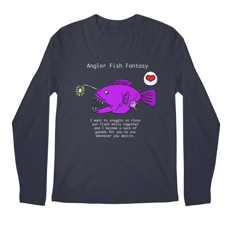 Angler Fish Fantasy Men's Regular Longsleeve T-Shirt by Vino & Vulvas Artist Shop