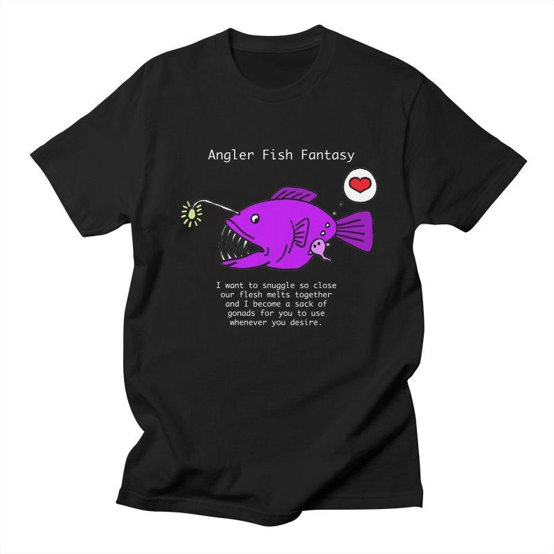 Angler Fish Fantasy Women's Regular Unisex T-Shirt by Vino & Vulvas Artist Shop