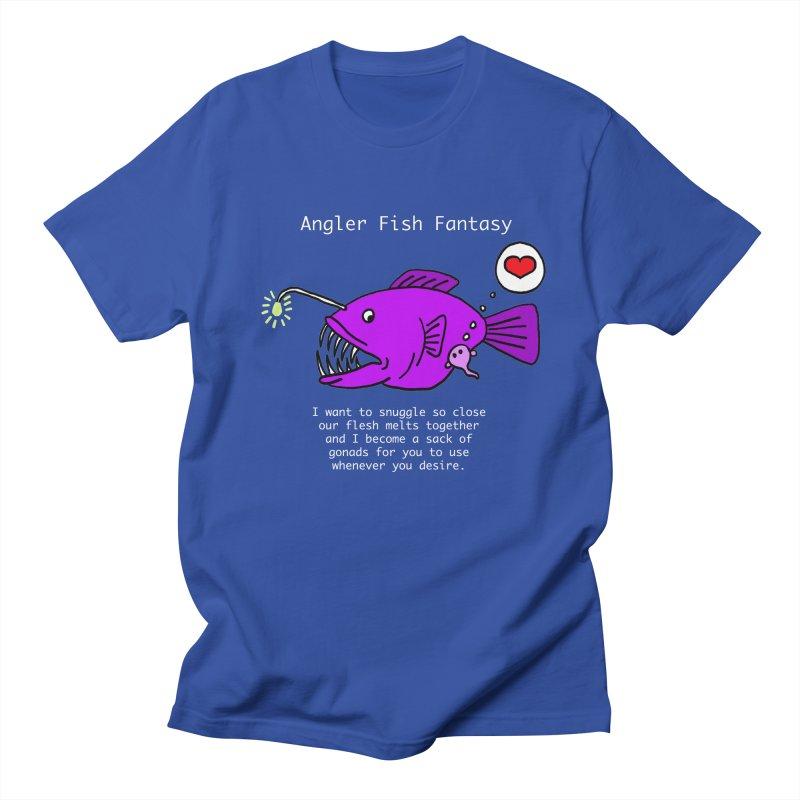 Angler Fish Fantasy Men's Regular T-Shirt by Vino & Vulvas Artist Shop
