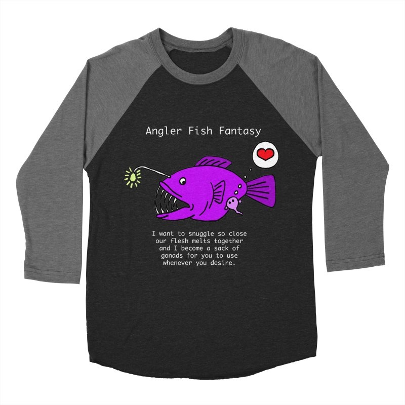 Angler Fish Fantasy Men's Baseball Triblend Longsleeve T-Shirt by Vino & Vulvas Artist Shop