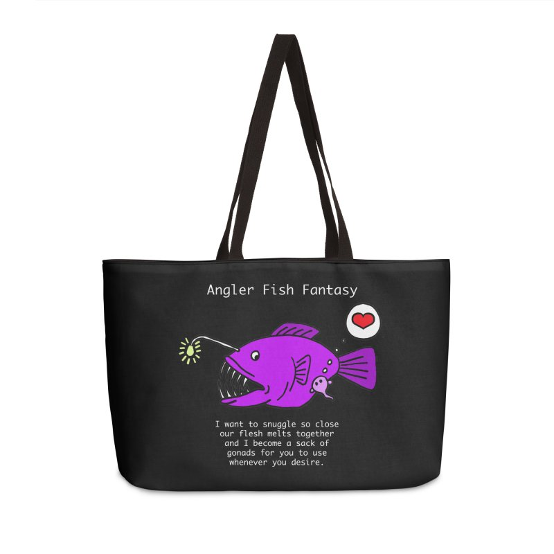 Angler Fish Fantasy Accessories Weekender Bag Bag by Vino & Vulvas Artist Shop