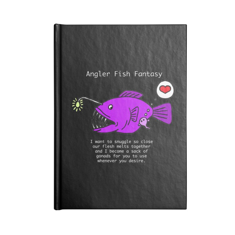 Angler Fish Fantasy Accessories Lined Journal Notebook by Vino & Vulvas Artist Shop