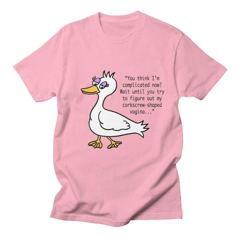 Duck Thoughts Men's Regular T-Shirt by Vino & Vulvas Artist Shop