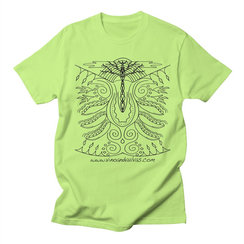 Eden Women's Regular Unisex T-Shirt by Vino & Vulvas Artist Shop
