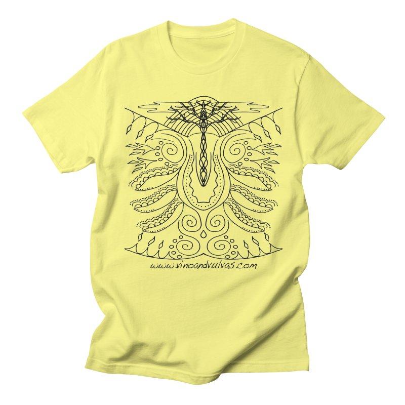 Eden Women's Regular Unisex T-Shirt by Vino & Vulvas Artist Shop