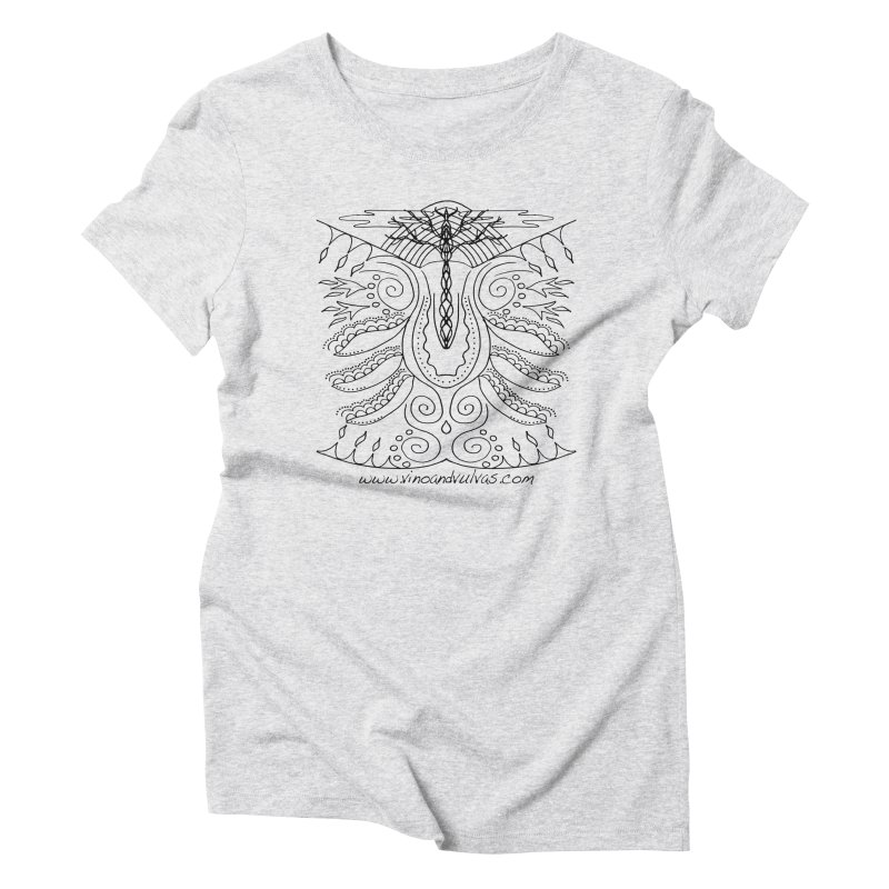 Eden Women's Triblend T-Shirt by Vino & Vulvas Artist Shop