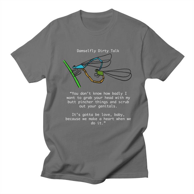 Damselfly Dirty Talk Men's T-Shirt by Vino & Vulvas Artist Shop