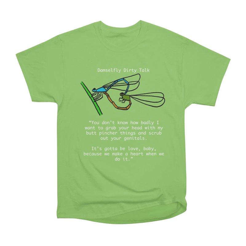 Damselfly Dirty Talk Men's Heavyweight T-Shirt by Vino & Vulvas Artist Shop