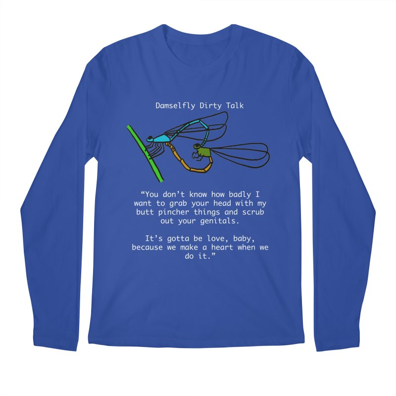 Damselfly Dirty Talk Men's Regular Longsleeve T-Shirt by Vino & Vulvas Artist Shop
