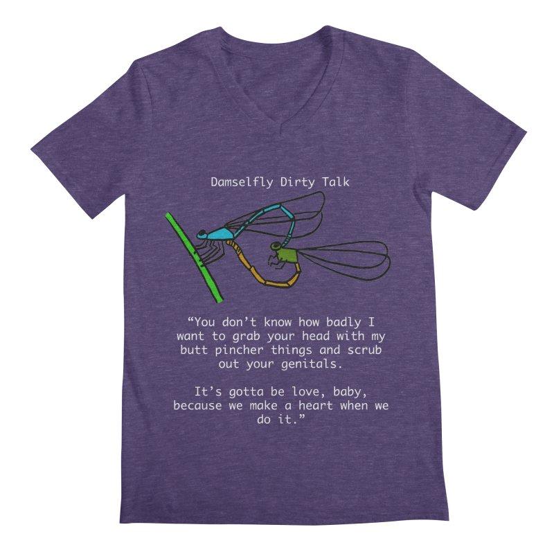 Damselfly Dirty Talk Men's Regular V-Neck by Vino & Vulvas Artist Shop