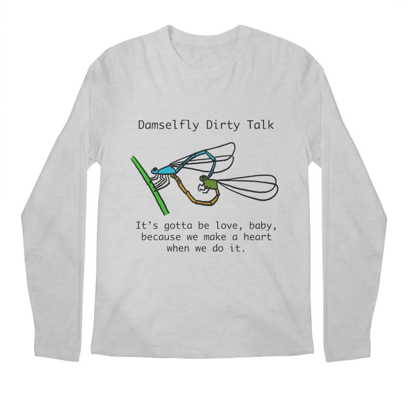 Damselfly Dirty Talk Men's Longsleeve T-Shirt by Vino & Vulvas Artist Shop