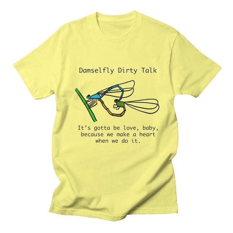 Damselfly Dirty Talk Men's T-Shirt by Vino & Vulvas Artist Shop