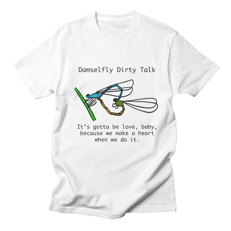 Damselfly Dirty Talk Men's Regular T-Shirt by Vino & Vulvas Artist Shop