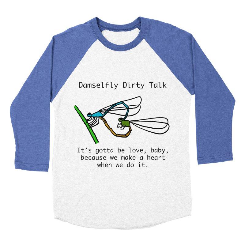 Damselfly Dirty Talk Men's Baseball Triblend Longsleeve T-Shirt by Vino & Vulvas Artist Shop