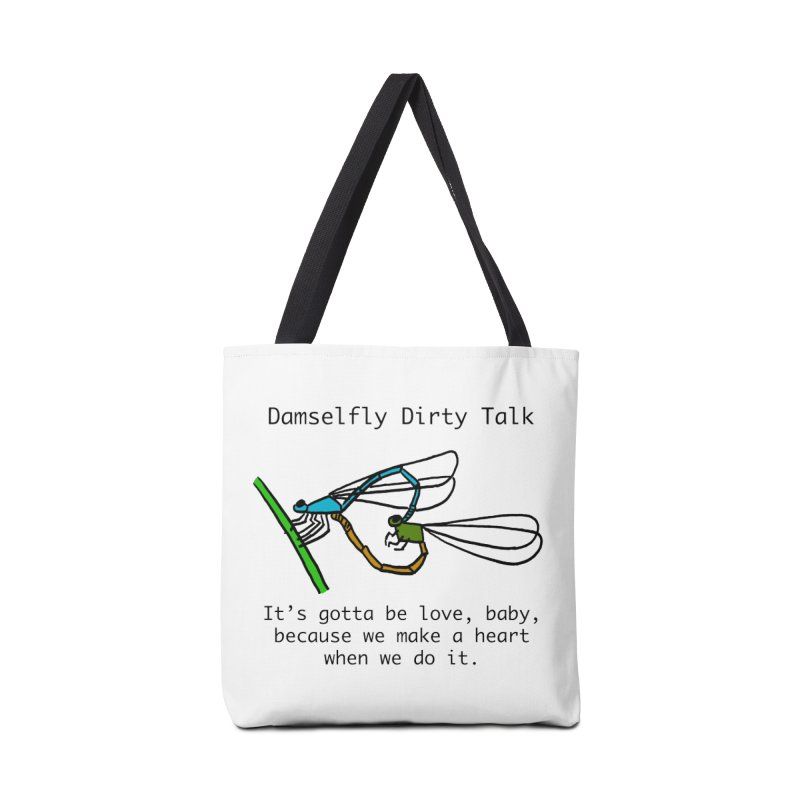 Damselfly Dirty Talk Accessories Tote Bag Bag by Vino & Vulvas Artist Shop