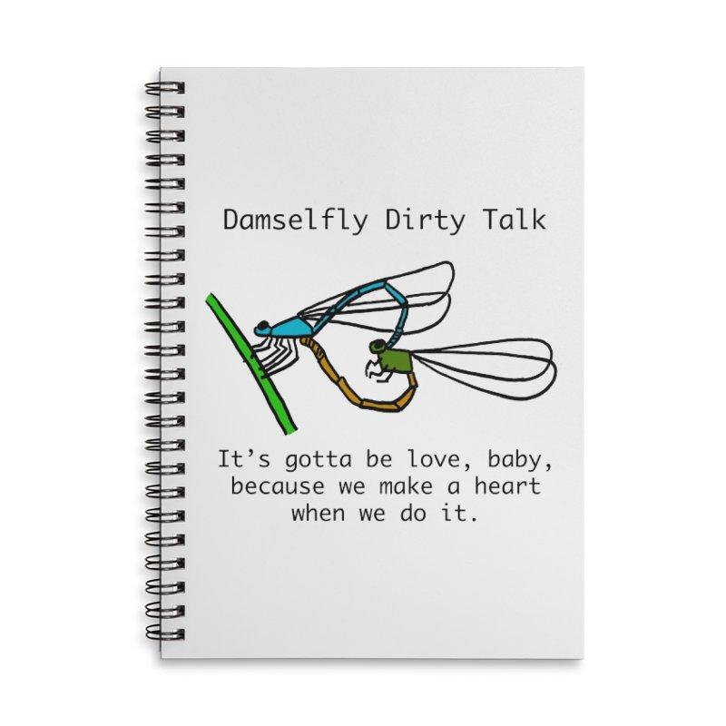 Damselfly Dirty Talk Accessories Lined Spiral Notebook by Vino & Vulvas Artist Shop