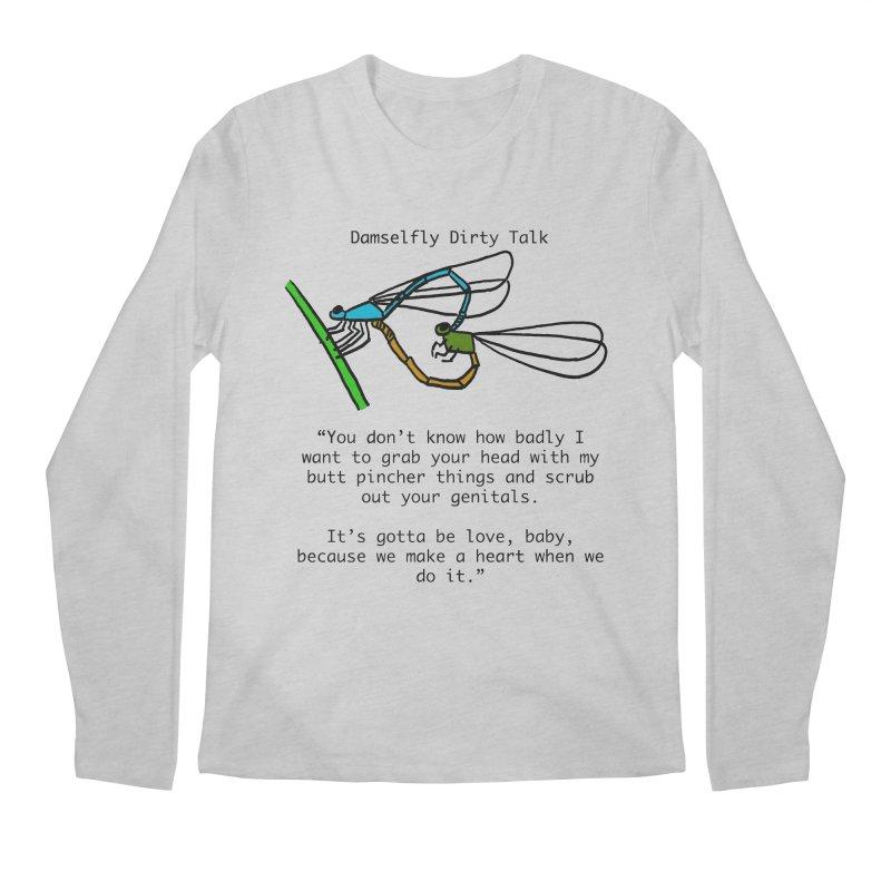 Damselfly Dirty Talk Men's Regular Longsleeve T-Shirt by Vino & Vulvas Artist Shop