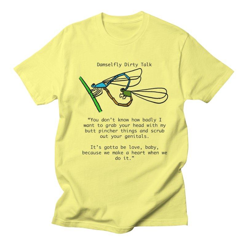 Damselfly Dirty Talk Men's Regular T-Shirt by Vino & Vulvas Artist Shop