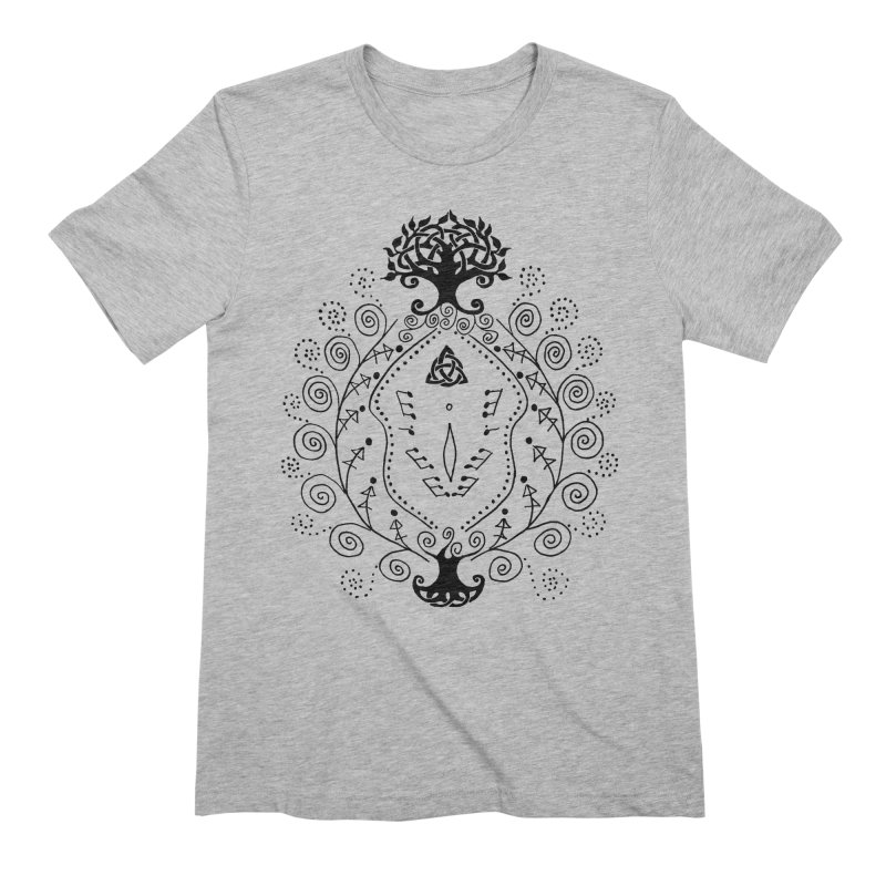 Celtic Clit Men's Extra Soft T-Shirt by Vino & Vulvas Artist Shop