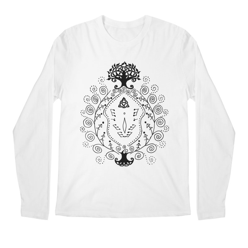 Celtic Clit Men's Regular Longsleeve T-Shirt by Vino & Vulvas Artist Shop