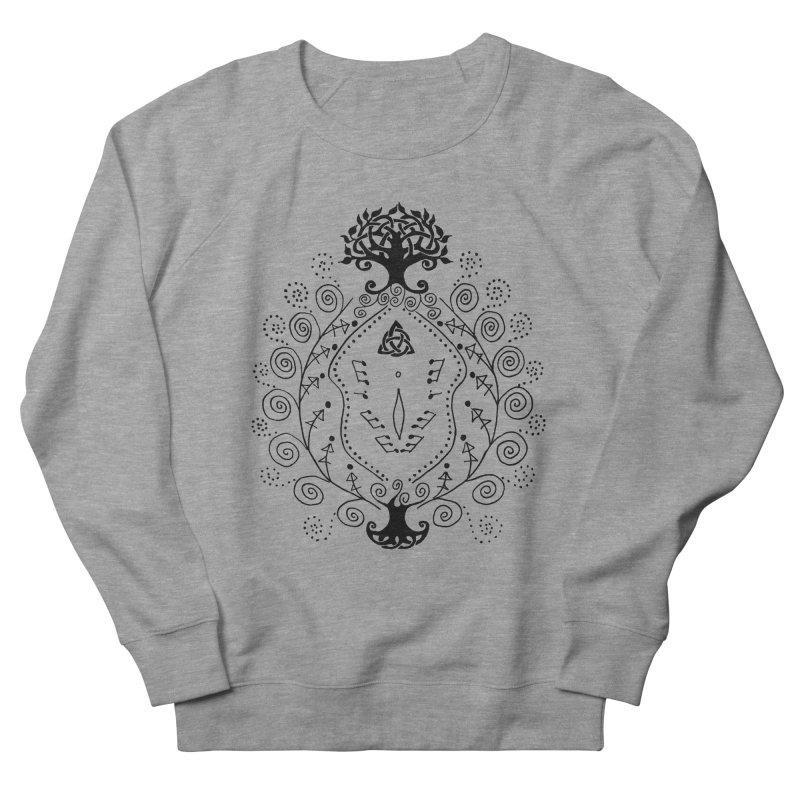 Celtic Clit Men's French Terry Sweatshirt by Vino & Vulvas Artist Shop