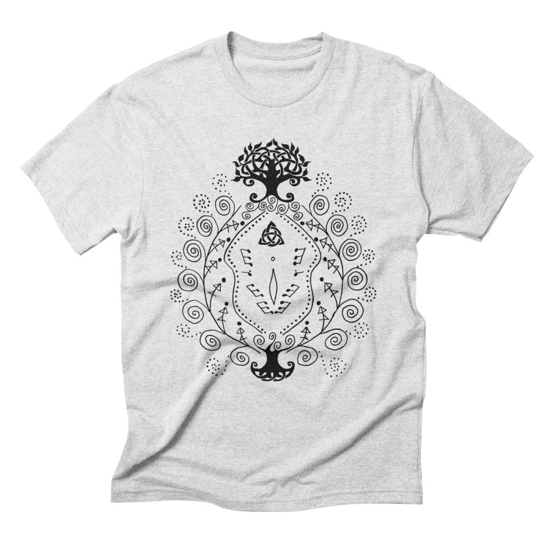 Celtic Clit Men's Triblend T-Shirt by Vino & Vulvas Artist Shop