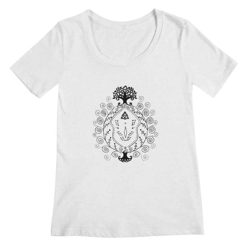 Celtic Clit Women's Regular Scoop Neck by Vino & Vulvas Artist Shop