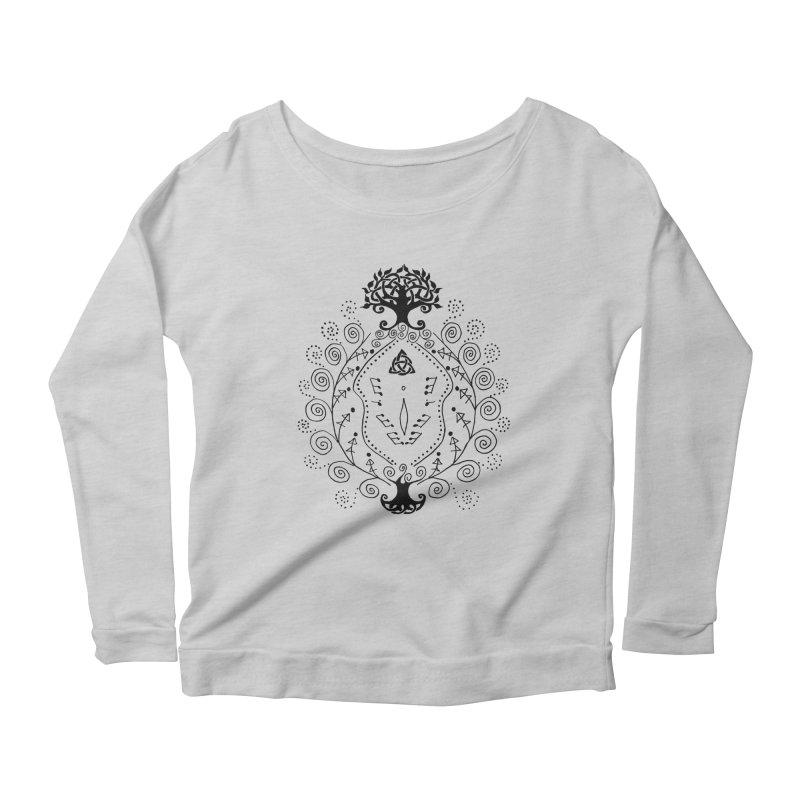 Celtic Clit Women's Scoop Neck Longsleeve T-Shirt by Vino & Vulvas Artist Shop