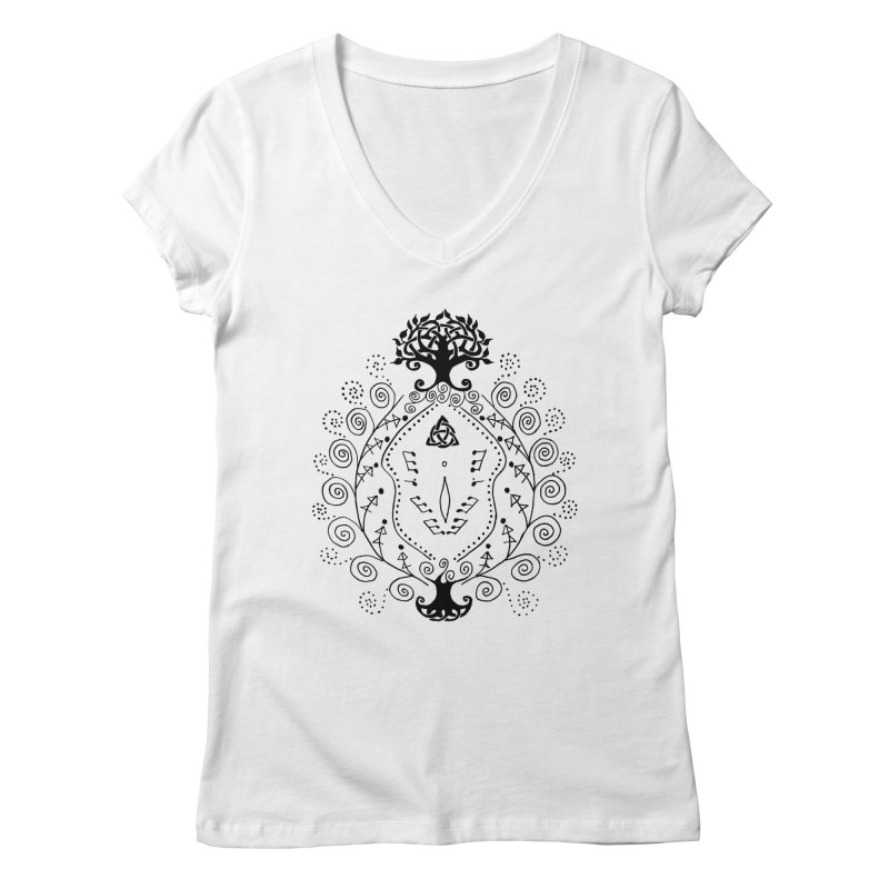 Celtic Clit Women's Regular V-Neck by Vino & Vulvas Artist Shop