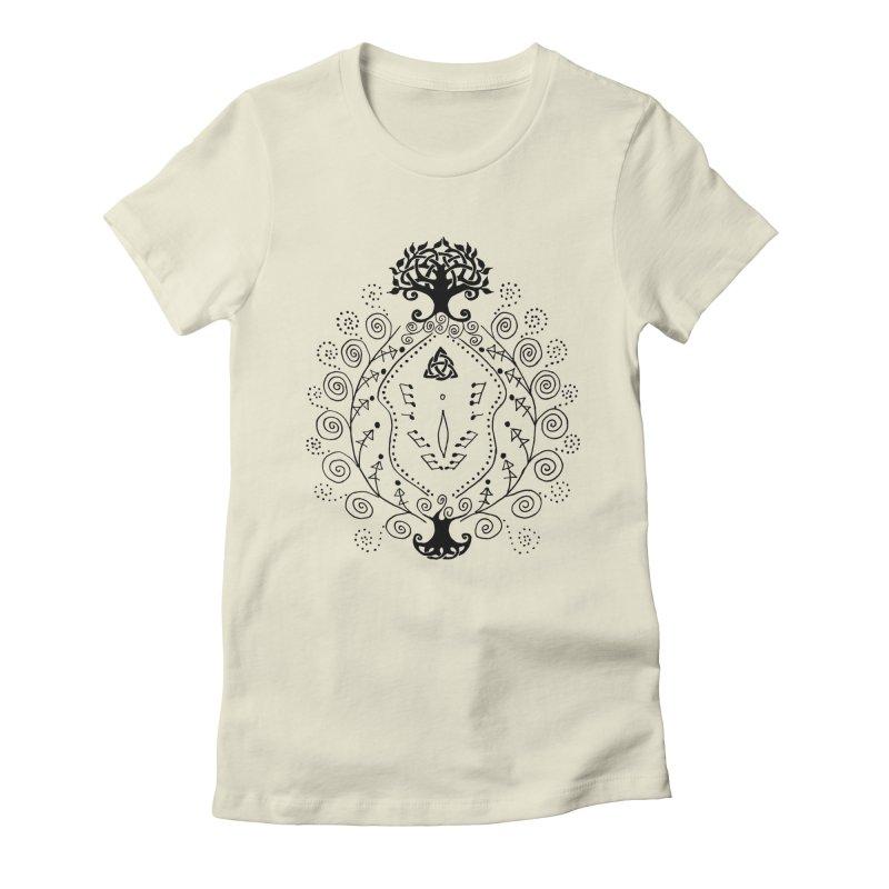 Celtic Clit Women's Fitted T-Shirt by Vino & Vulvas Artist Shop