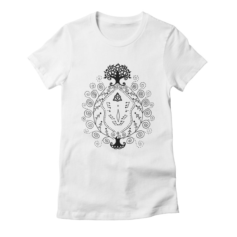 Celtic Clit Women's Fitted T-Shirt by Vino & Vulvas Artist Shop