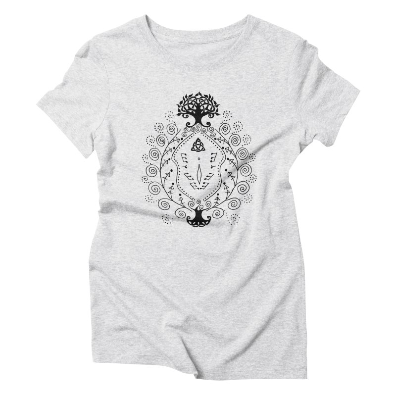 Celtic Clit Women's Triblend T-Shirt by Vino & Vulvas Artist Shop