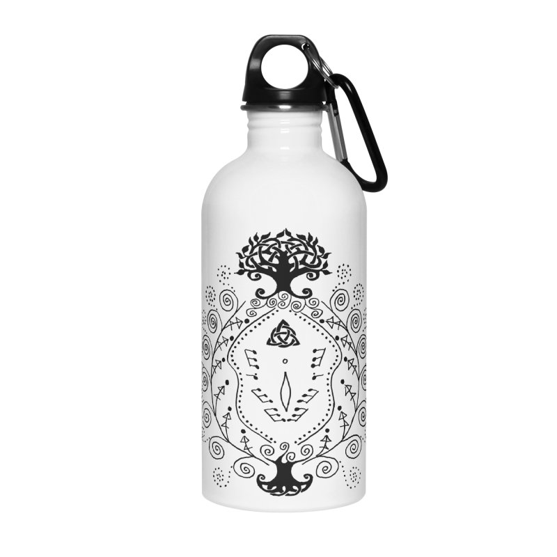 Celtic Clit Accessories Water Bottle by Vino & Vulvas Artist Shop