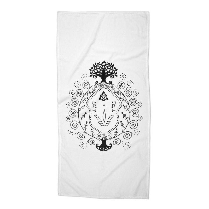 Celtic Clit Accessories Beach Towel by Vino & Vulvas Artist Shop