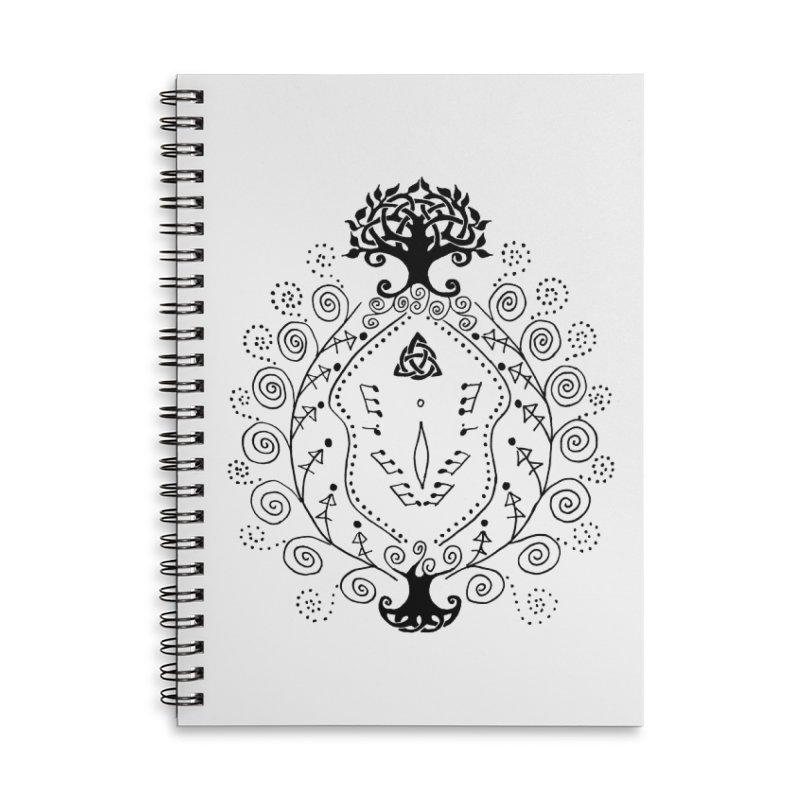 Celtic Clit Accessories Lined Spiral Notebook by Vino & Vulvas Artist Shop
