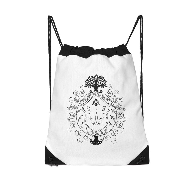 Celtic Clit Accessories Drawstring Bag Bag by Vino & Vulvas Artist Shop