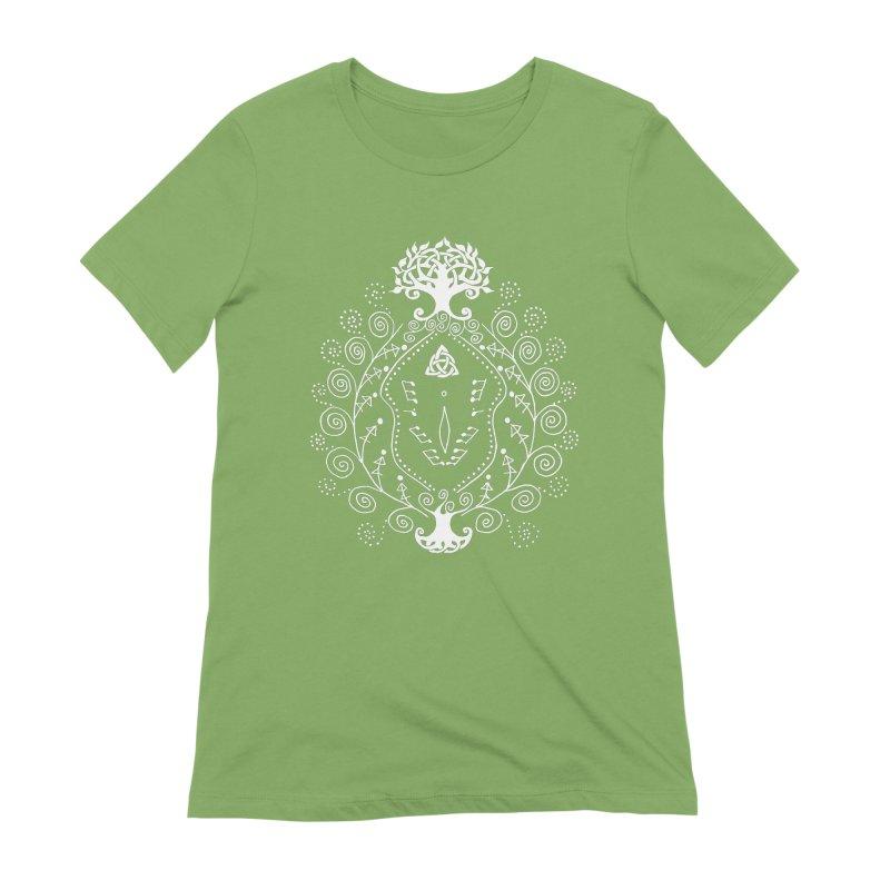 Celtic Clit (white) Women's Extra Soft T-Shirt by Vino & Vulvas Artist Shop