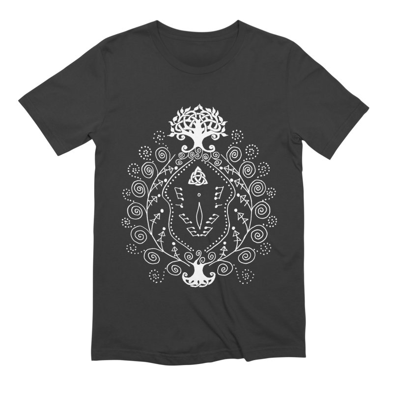 Celtic Clit (white) Men's Extra Soft T-Shirt by Vino & Vulvas Artist Shop
