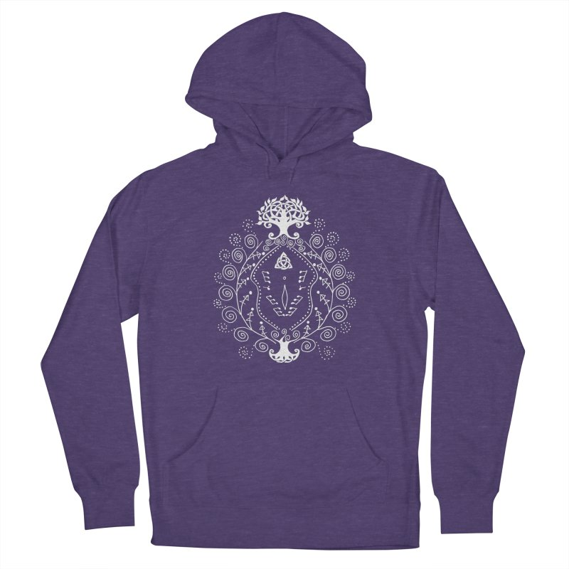 Celtic Clit (white) Women's French Terry Pullover Hoody by Vino & Vulvas Artist Shop