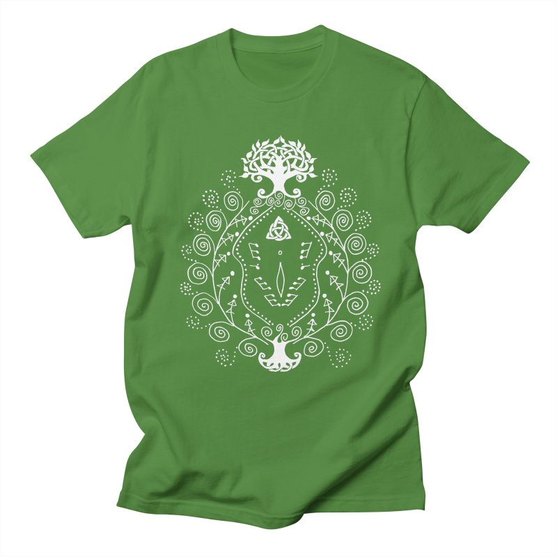 Celtic Clit (white) Men's Regular T-Shirt by Vino & Vulvas Artist Shop