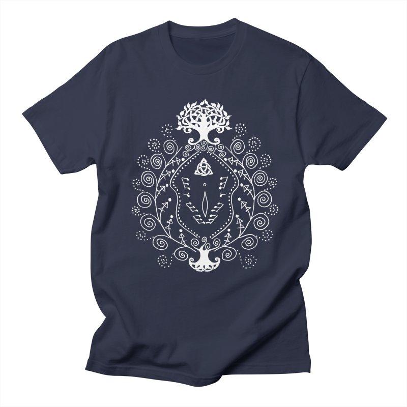 Celtic Clit (white) Women's Regular Unisex T-Shirt by Vino & Vulvas Artist Shop