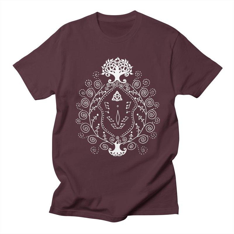 Celtic Clit (white) Men's Regular T-Shirt by Vino & Vulvas Artist Shop
