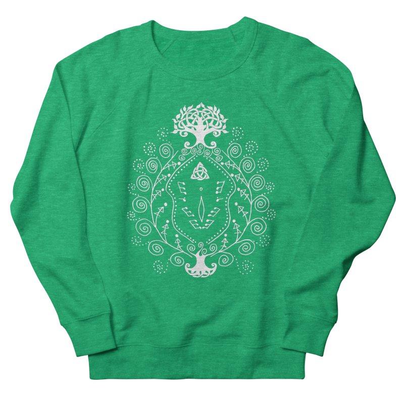 Celtic Clit (white) Women's French Terry Sweatshirt by Vino & Vulvas Artist Shop