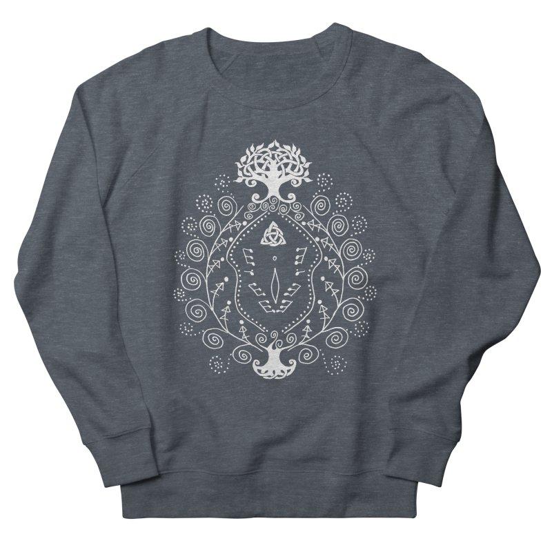 Celtic Clit (white) Men's French Terry Sweatshirt by Vino & Vulvas Artist Shop